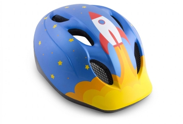 Met Super Buddy Kids Helmet Blue Rocket Matt