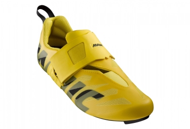 Paire de chaussures mavic cosmic sl ultimate tri jaune mavic 40 2 3