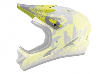 Seven M1 Replacement Visor Gradient Lime Yellow Grey