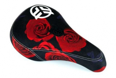 Federal BMX Saddle Mid Pivotal Logo Sublimated Roses Print Black / Red