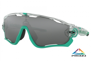 Paire de lunettes oakley jawbreaker crystal pop collection crystal clear prizm black
