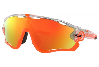 Paire de lunettes oakley jawbreaker crystal pop collection crystal clear fire iridiu