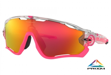 Paire de lunettes oakley jawbreaker crystal pop collection matte clear prizm ruby oo