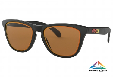 Paire de lunettes oakley frogskins fire and ice collection matte black prizm bronze