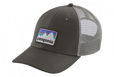 Patagonia Shop Sticker Patch LoPro Trucker Hat Grey