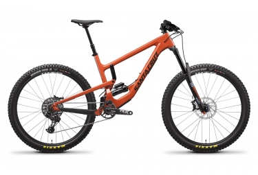 Velo tout suspendu santa cruz nomad c carbone 27 5 sram nx eagle 12v orange 2019 m 1