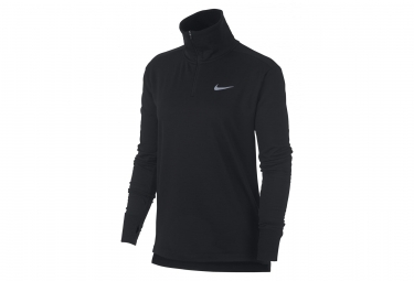 Maillot Manches Longues Zip Femme Nike Therma Sphere Element Noir