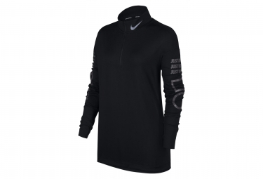 Nike Element Women's Long Sleeves Zip Jersey Black