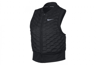 Nike AeroLoft Women's Thermal Zip Without Sleeves Jacket Black