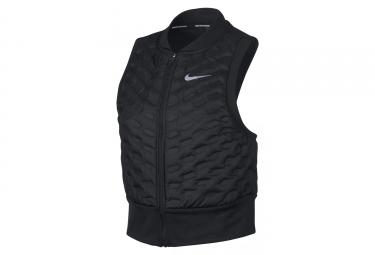Nike AeroLoft Frauen Thermal Zip Ohne Ärmel Jacke Schwarz