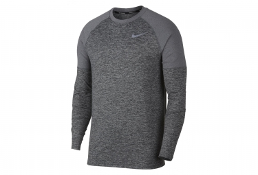 Maillot manches longues nike element gris m