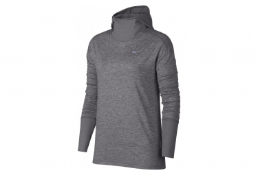 Nike Elet Women's Hooded Long Sleeves Jersey Grey