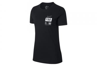 Maillot Manches Courtes Femme Nike Dry Run Paris Noir