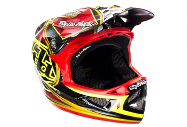 Troy Lee Designs D3 Carbon Longshot Mips Helmet Red 2017