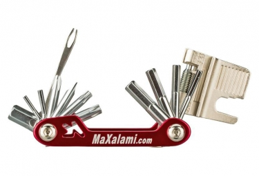 Image of Multi outils maxalami k 22 fonctions rouge