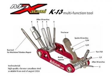 Multi-Outils MaXalami K-13 fonctions Rouge