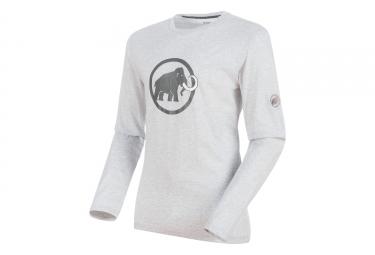 T-Shirt Manches Longues Mammut Logo marble Magma