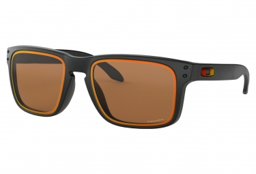 lunettes oakley holbrook fire and ice collection matte noir prizm bronze ref oo9102