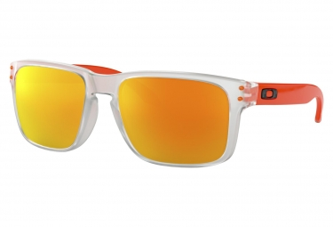 Lunettes Oakley Holbrook Crystal Clear / Fire Iridium / Ref. OO9102-H555