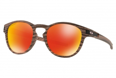 Oakley Sunglasses Latch Woodstain Collection Rosewood / Prizm Ruby / Ref. OO9265-4453