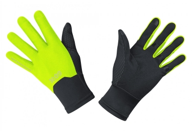 Gore M Gore Windstopper Gloves Black Yellow