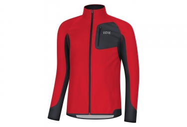 Veste Coupe-vent Gore R3 Partial Gore Windstopper Rouge