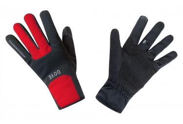 Gore M Windstopper Thermo Gloves Red Black