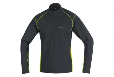 Gore R3 Thermo Long Sleeve Zip Jersey Black