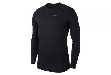 Maillot Haut Manches Longues Compression Nike Pro Noir Blanc