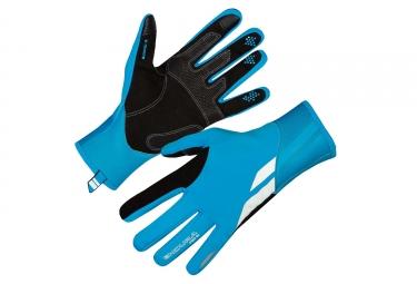 Gants longs coupe vent endura pro sl bleu fluo s