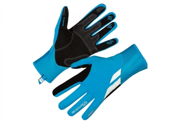 Gants Longs Coupe-Vent Endura Pro SL Bleu Fluo