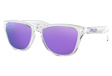 Lunettes Enfants Oakley Frogskins XS Youth Fit Polished Clear / Violet Iridium / Ref. OJ9006-0353
