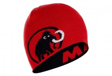 Bonnet Mammut Logo Noir Rouge