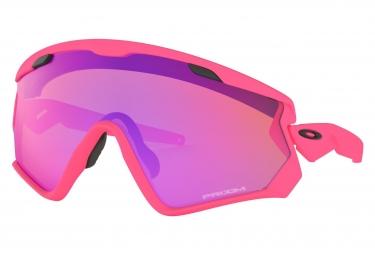 Lunettes Oakley Wind Jacket 2.0 Matte Neon Pink / Prizm Trail / Ref. OO9418-1445