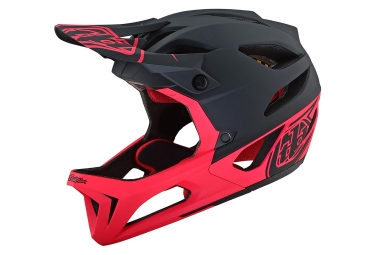 Troy Lee Designs Stage Stealth Full Face Helmet Matte Black Neon Pink