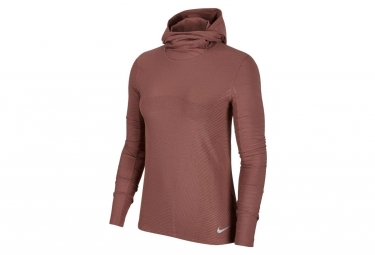 Nike Element Women's Hooded Long Sleeves Jersey Pink Mauve