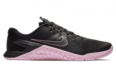 Chaussures de Cross Training Nike Metcon 4 Noir / Rose