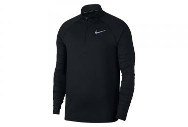 Maillot Manches Longues Zip Nike Element Noir