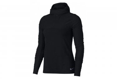 Nike Element Women's Hooded Long Sleeves Jersey Black