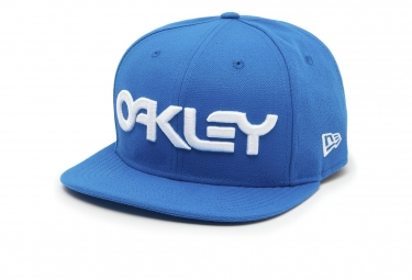 Casquette oakley mark ii 5 panel ozone bleu