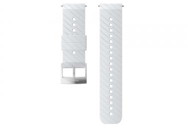 Bracelet Silicone Suunto Athletic 3 24 mm Blanc
