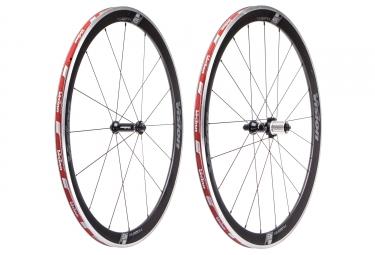 Paire de roues vision trimax carbon 45 pneu corps shimano sram noir