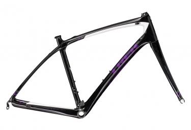 Kit cadre fourche trek silque s noir violet 56 cm 173 180 cm