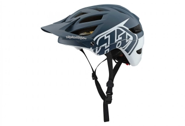 Casque VTT Troy Lee Designs A1 Classic Mips Gris Anthracite Blanc Mat