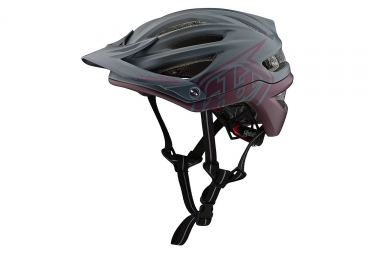 Casque vtt troy lee designs a2 decoy mips gris anthracite bordeaux mat xs s 54 57 cm
