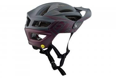 Troy Lee Designs A2 Decoy Mips MTB Helmet Anthracite Grey Sangria Red Matte