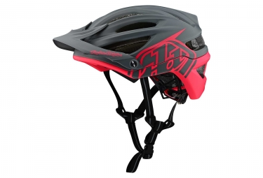 Casque vtt troy lee designs a2 decoy mips gris anthracite rose fluo mat xs s 54 57 cm