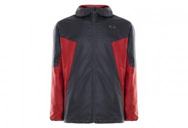 Veste oakley enhance wind warm 8 7 noir rouge l