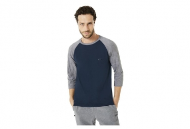 Oakley T-Shirt 3/4 Link Blue/Grey