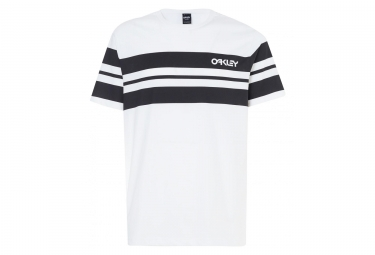 T shirt manches courtes oakley classic stripe wide blanc s